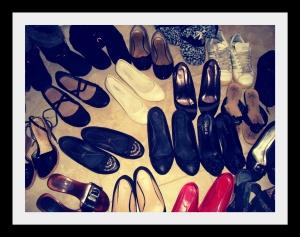 Una foto ad alcune delle mie scarpe