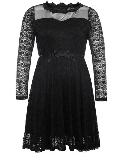 abito nero in pizzo