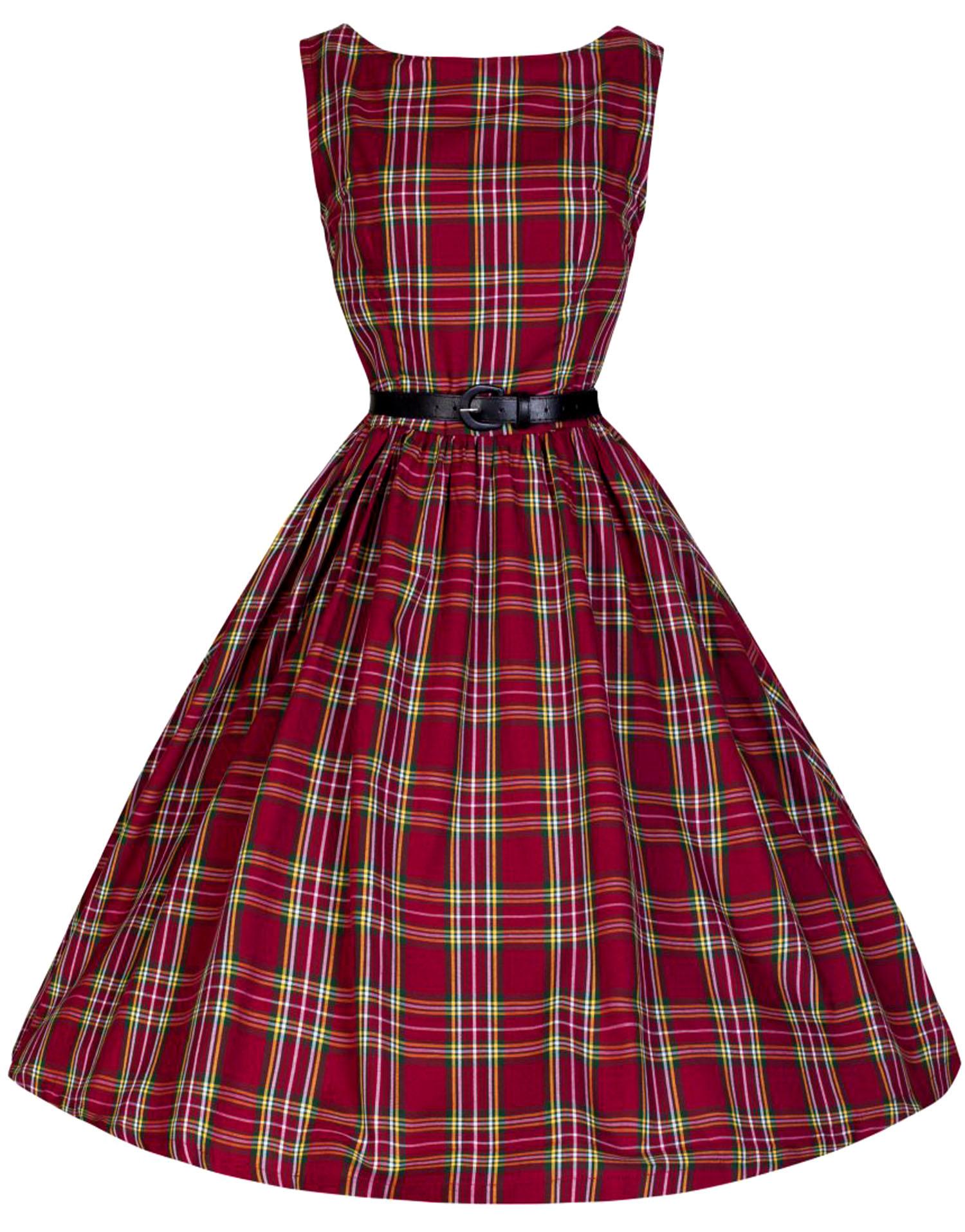 abito tartan anni 50