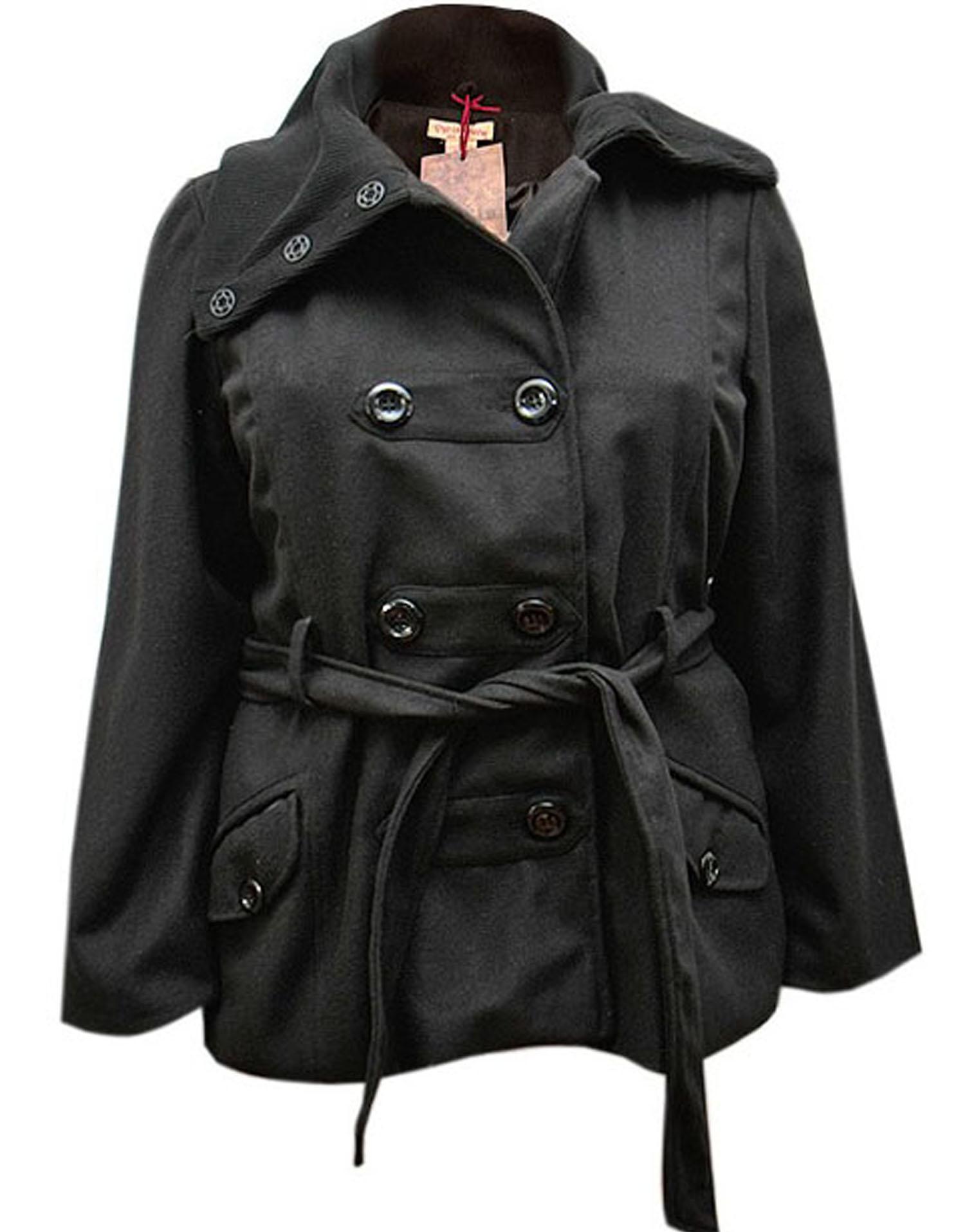 cappotto nero con collo felpato