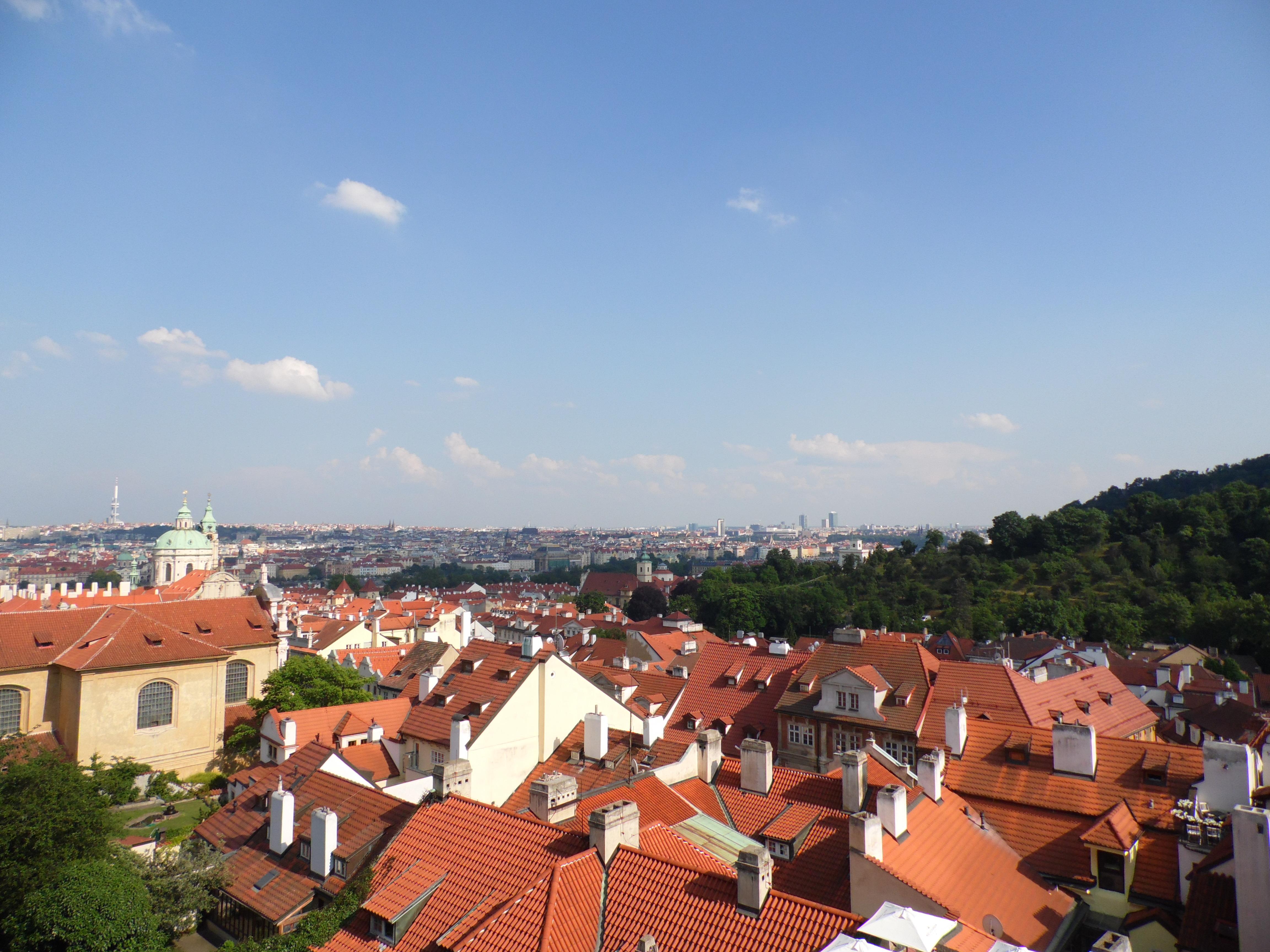 Veduta dall'alto del Castello alla città, Praga 2015, TondaMente Curvy Blog